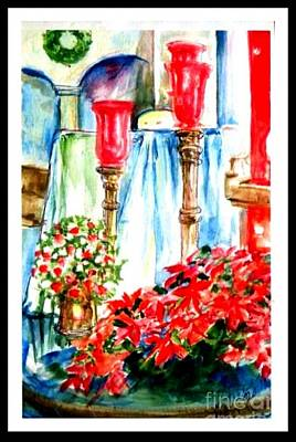 Christmas Altar At St Peters And Pauls Poster by Patricia Ducher