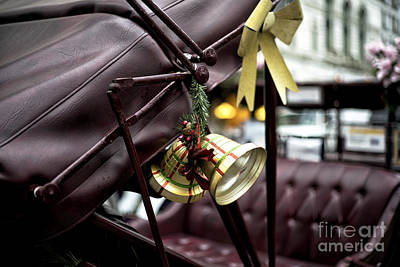 Christmas Bell On The Carriage Poster by John Rizzuto
