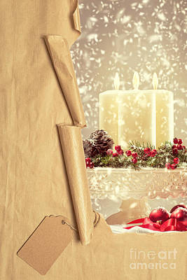Christmas Candles Poster by Amanda Elwell