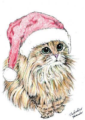 Christmas Cat Poster by Takahiro Yamada