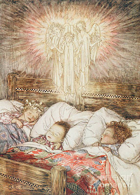 Christmas Illustrations From The Night Before Christmas Poster by Arthur Rackham