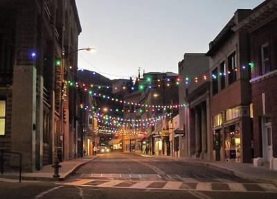 Christmas In Bisbee Arizona Poster by Robert Visor