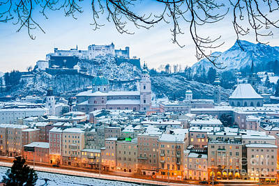 Christmas In Salzburg Poster by JR Photography