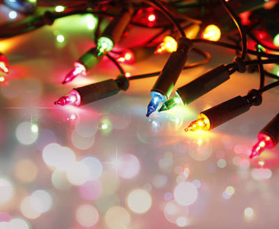 Christmas Lights Poster by Les Cunliffe
