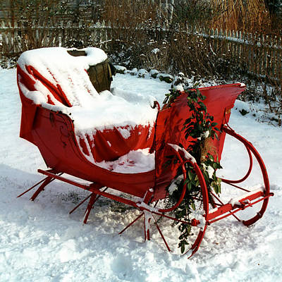 Sleigh Poster featuring the photograph Christmas Sleigh by Andrew Fare