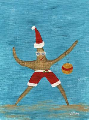 Christmas Starfish Poster by Jamie Frier