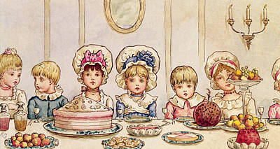 Christmas Supper Poster by Kate Greenaway