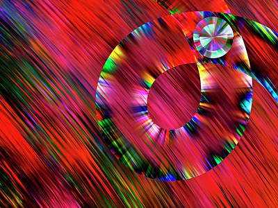 Christmas Wreath Abstract Poster by Rayanda Arts