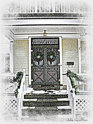 Christmas Wreathes  Poster by Julie Hamilton