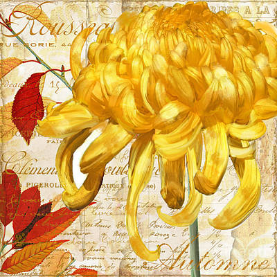 Chrysanthemes Poster by Mindy Sommers