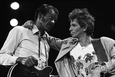 Chuck Berry And Keith Richards Poster by Terry O'Neill