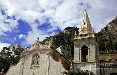 Church In Taormina Poster by Madeline Ellis