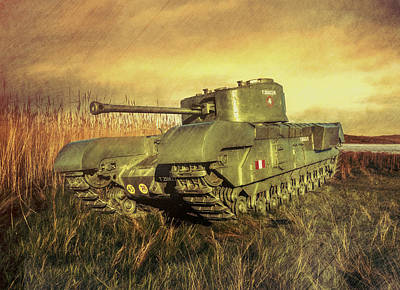 Churchill Tank Poster by Roy McPeak