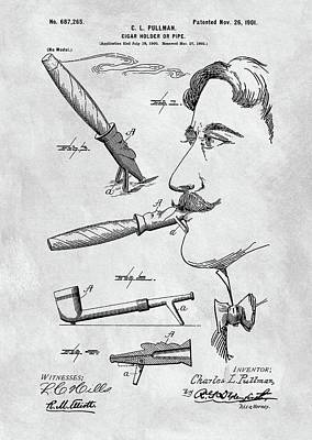 Cigar Holder  Poster by Dan Sproul