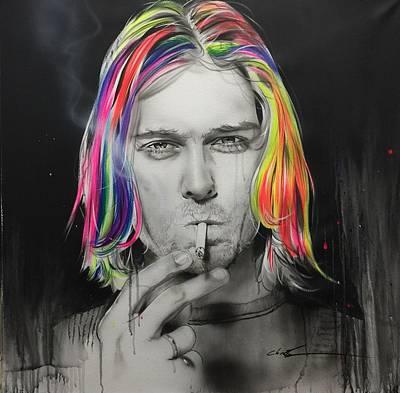 Kurt Cobain - 'cigarette Burns' Poster by Christian Chapman Art