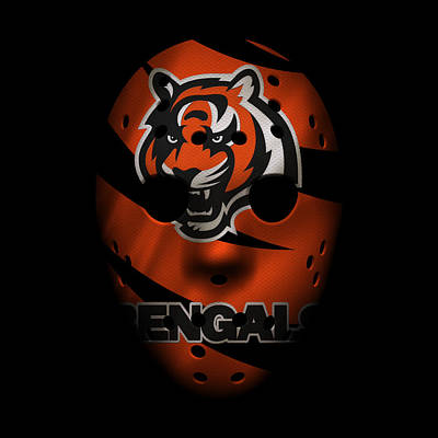 Cincinnati Bengals War Mask Poster by Joe Hamilton