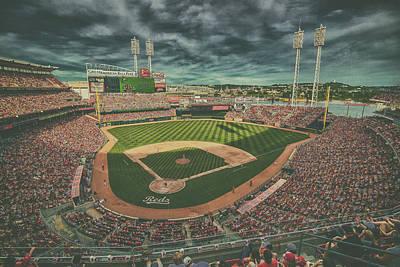 Cincinnati Reds Great American Ballpark Creative 5 Poster by David Haskett
