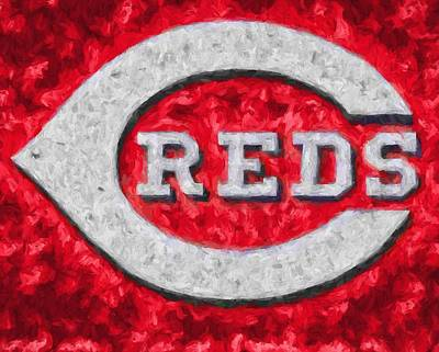 Cincinnati Reds On Canvas Poster by Dan Sproul