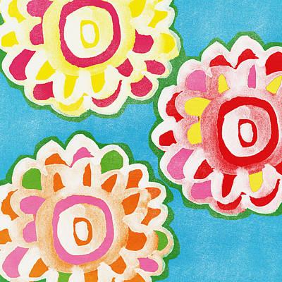 Fiesta Floral 1 Poster by Linda Woods