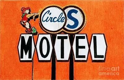 Circle S Motel Poster by Glenda Zuckerman