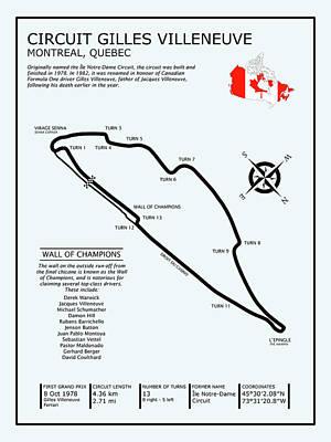 Circuit Gilles Villeneuve Poster by Mark Rogan