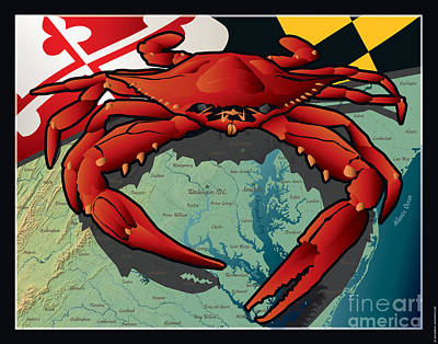 Citizen Crab Of Maryland Poster by Joe Barsin