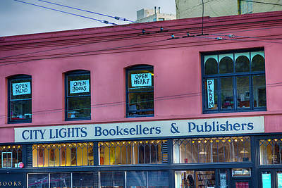 City Lights Booksellers Poster by Garry Gay