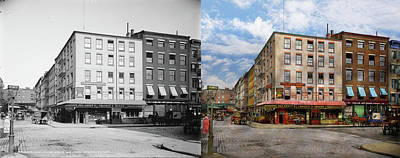 City - New York Ny - Fraunce's Tavern 1890 - Side By Side Poster by Mike Savad