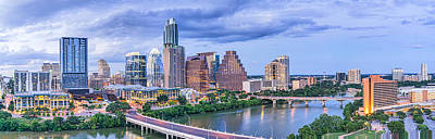 City Of Austin Skyline Pano Poster by Tod and Cynthia Grubbs