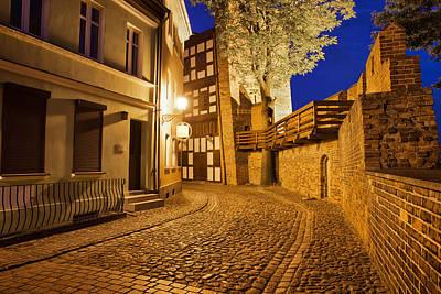 City Of Torun At Night Poster by Artur Bogacki