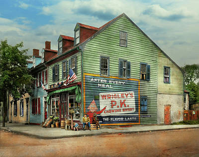City- Va - C And G Grocery Store 1927 Poster by Mike Savad