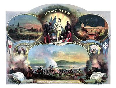 Civil War 14th Regiment Memorial Poster by War Is Hell Store