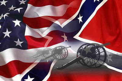 Civil War Silent Cannons Poster by Daniel Hagerman
