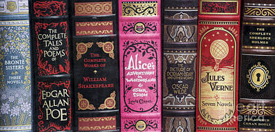 Classic English Literature Books Poster by Tim Gainey