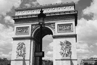 Black And White Paris Poster featuring the photograph Classic Paris 6 by Andrew Fare