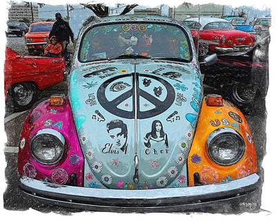 Classic Vw Beetle Love Bug Poster by Rebecca Korpita