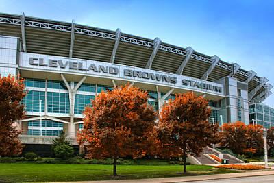Cleveland Browns Stadium Poster by Kenneth Krolikowski