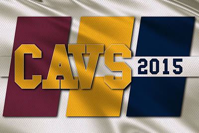 Cleveland Cavaliers Flag Poster by Joe Hamilton