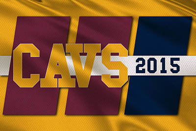 Cleveland Cavaliers Flag2 Poster by Joe Hamilton