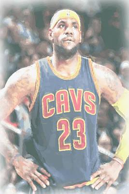 Cleveland Cavaliers Lebron James 5 Poster by Joe Hamilton