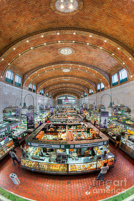 Cleveland West Side Market I Poster by Clarence Holmes