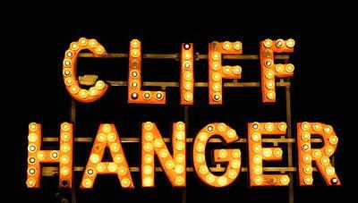 Cliff Hanger Poster by Dana  Oliver