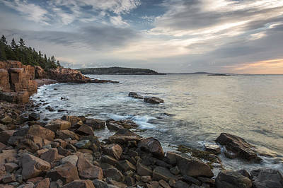 Cliffs Of Acadia Poster by Jon Glaser