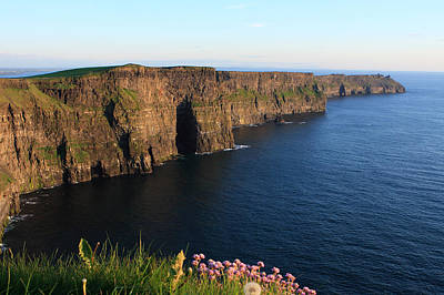 Cliffs Of Moher In Evening Light Poster by Aidan Moran