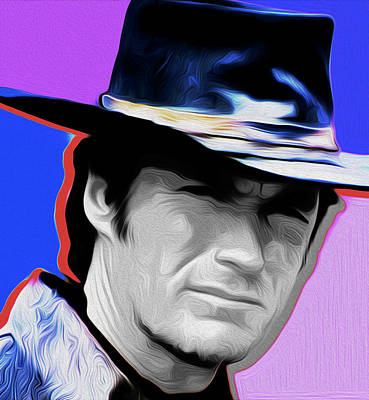 Clint Eastwood #21a By Nixo Poster by Nicholas Nixo