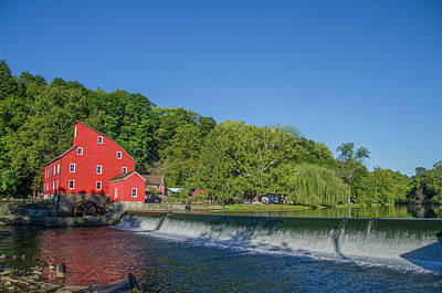 Clinton New Jersey - The Red Mill Poster by Bill Cannon