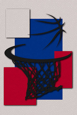 Clippers Hoop Poster by Joe Hamilton