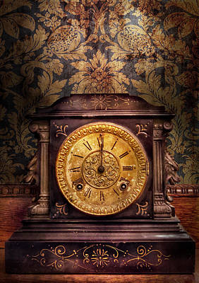 Clockmaker - Wolf Clock  Poster by Mike Savad