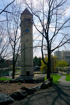 Clocktower Spokane R F P Poster by Daniel Hagerman
