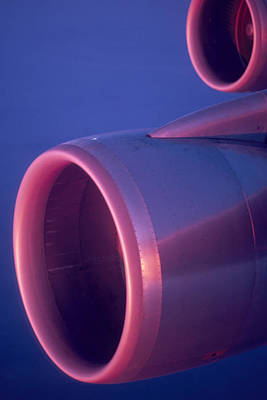 Close-up Of Jet Engine, In Mid Air Poster by Keenpress